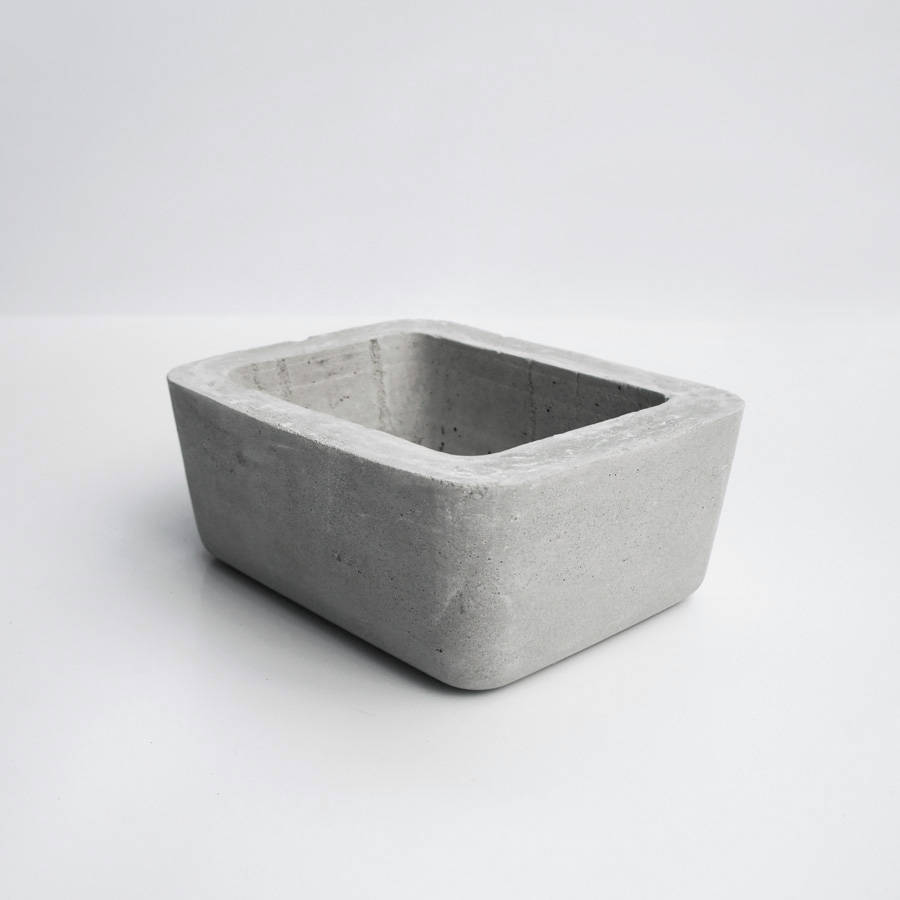 ISLAND 島嶼圓角矩形水泥盆器 / Rounded rectangular concrete pot