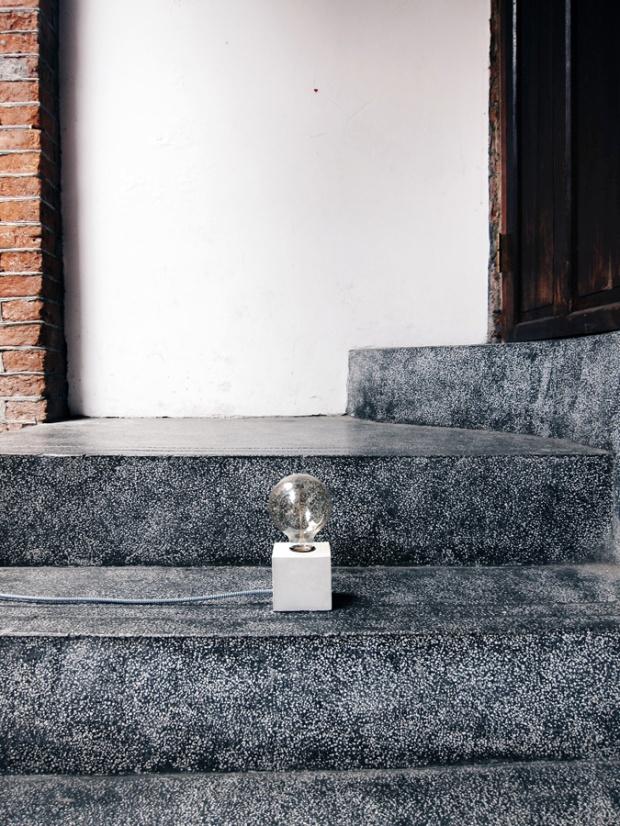 水泥手作課程:方磚 / 獨一無二水泥燈實作