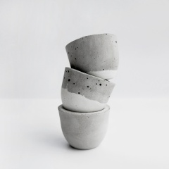 ARCTIC 北極冰層水泥小茶杯 / concrete pot of set