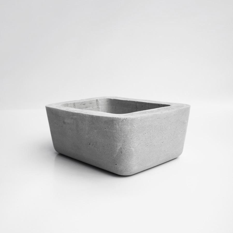 ISLAND 島嶼矩形圓角水泥水泥設計家飾・盆器・盆栽
