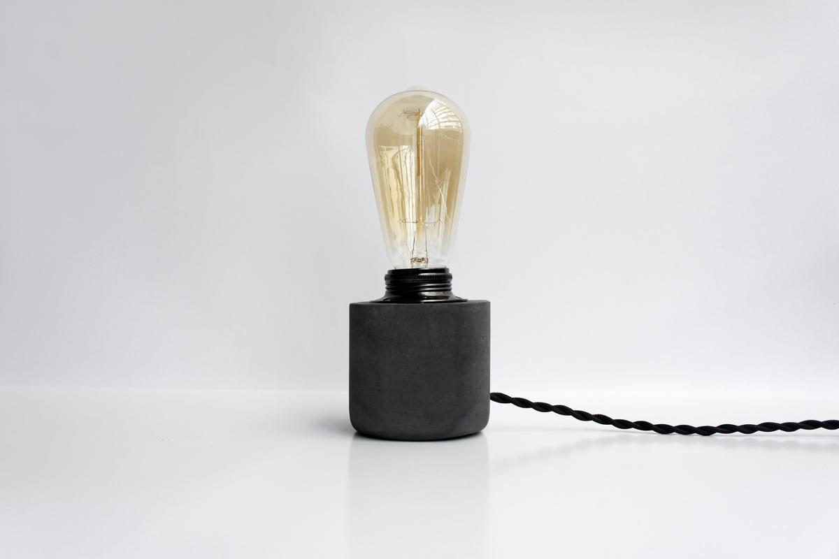 / HALF 半嵌金屬圓角設計水泥燈 - 瀝青黑