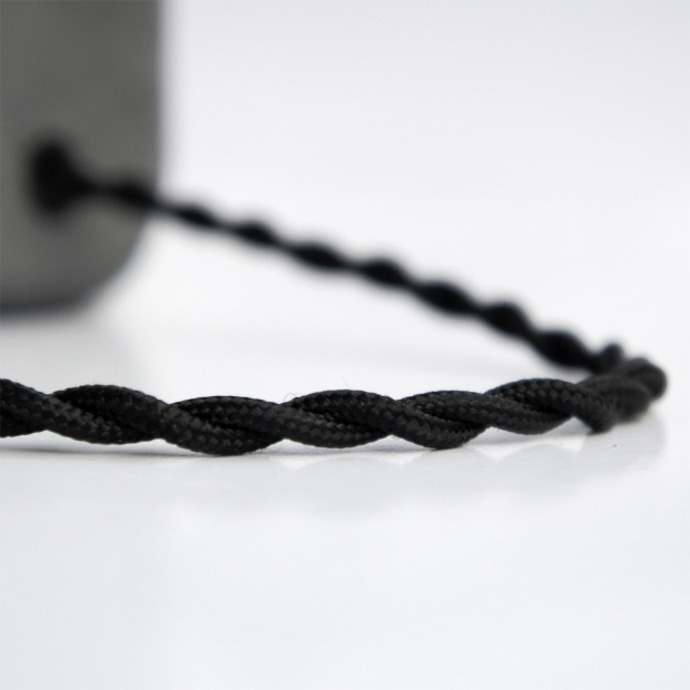 HALF 半嵌金屬圓角設計水泥燈 - 瀝青黑