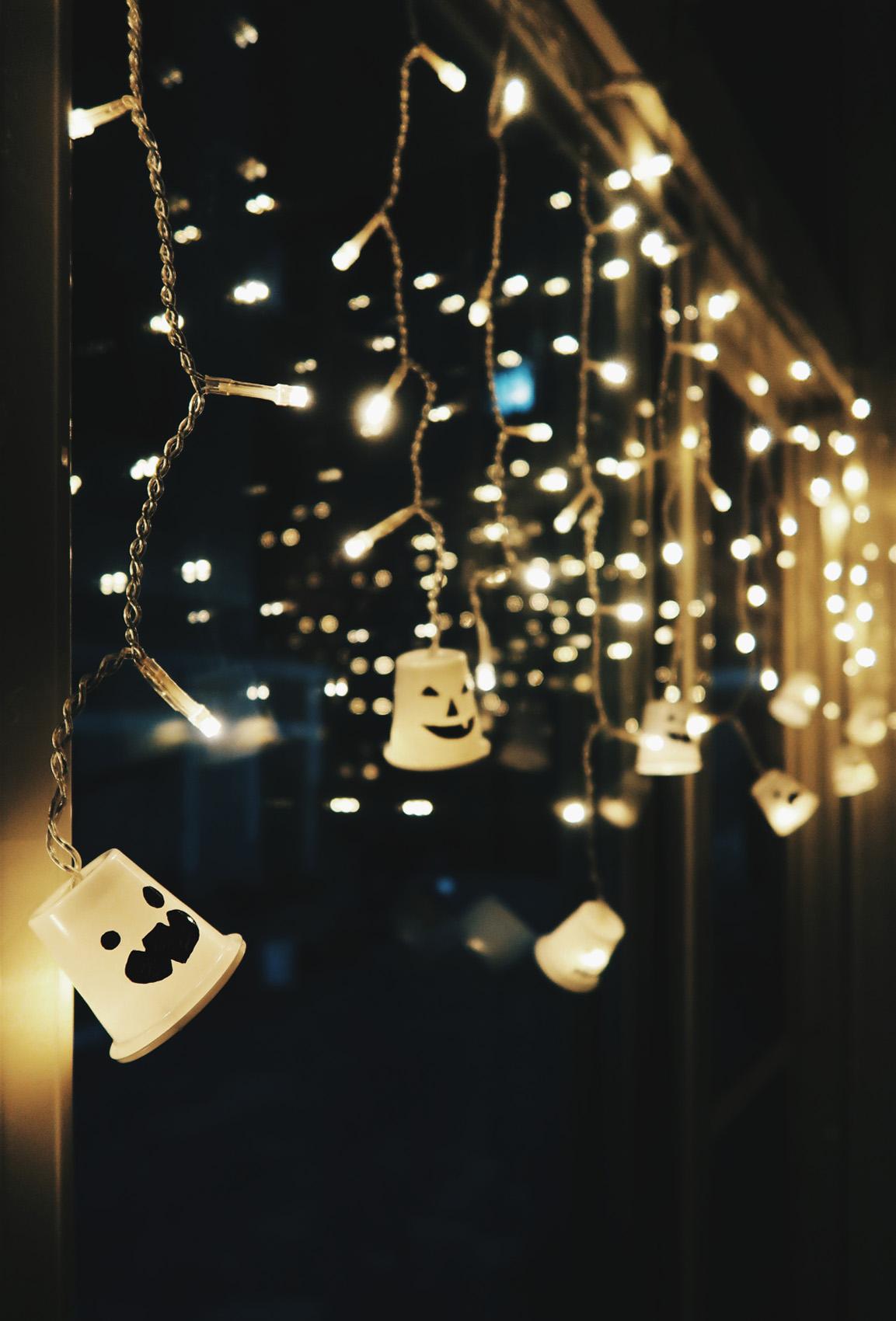 PDIY萬聖節可愛幽靈LED燈