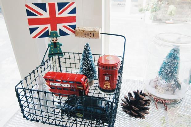 黑色小鐵籃 - 英國風聖誕佈置