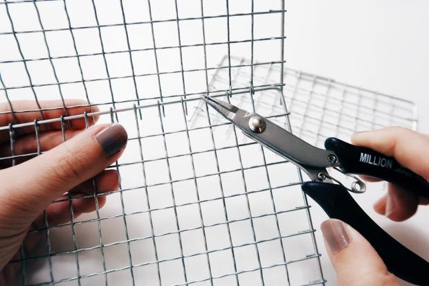 DIY 收納擺飾小黑鐵籃:製作過程