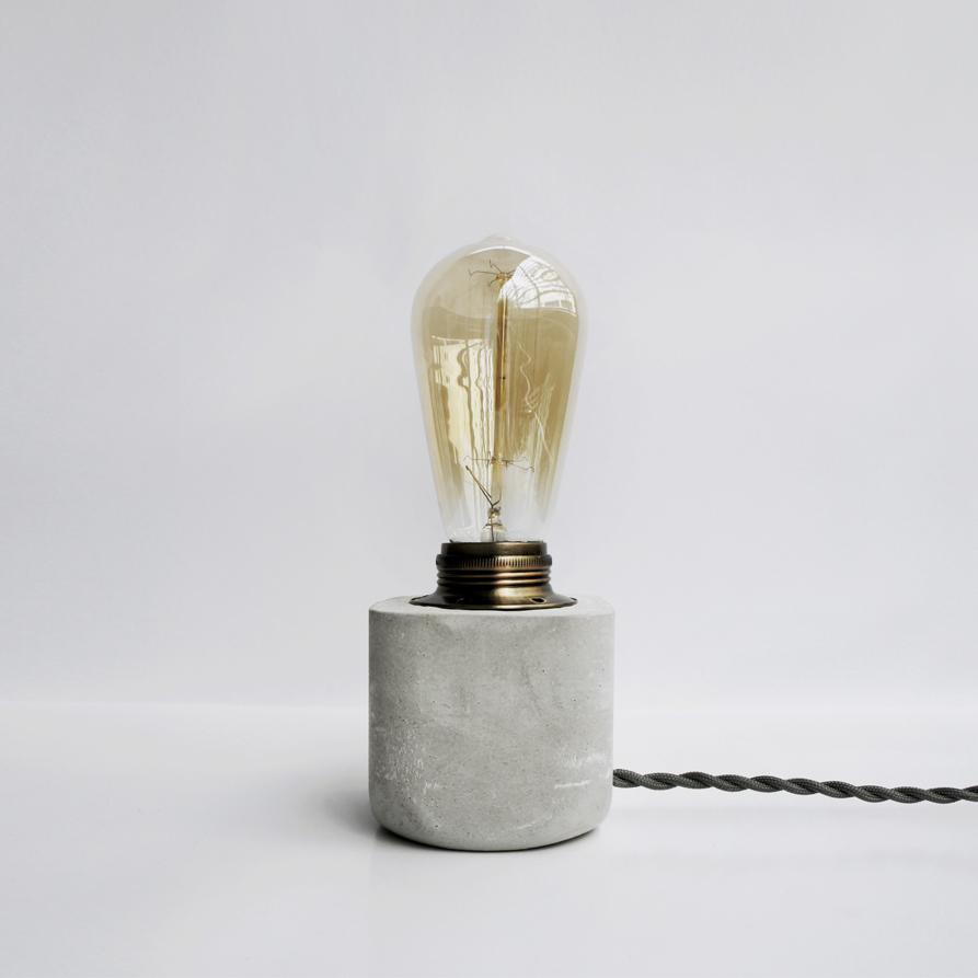 HALF 半嵌古銅圓角設計水泥燈・桌燈・禮物