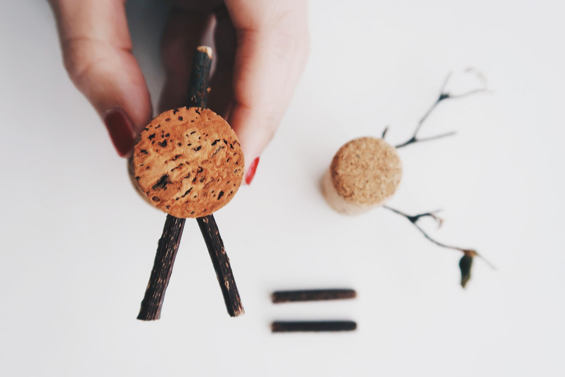/ 灰調 / DIY 手作小教學:聖誕節軟木塞小麋鹿 Step3