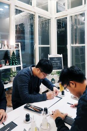 / 方磚 / 獨一無二水泥燈實作:2017/12/16 上課側拍與記錄