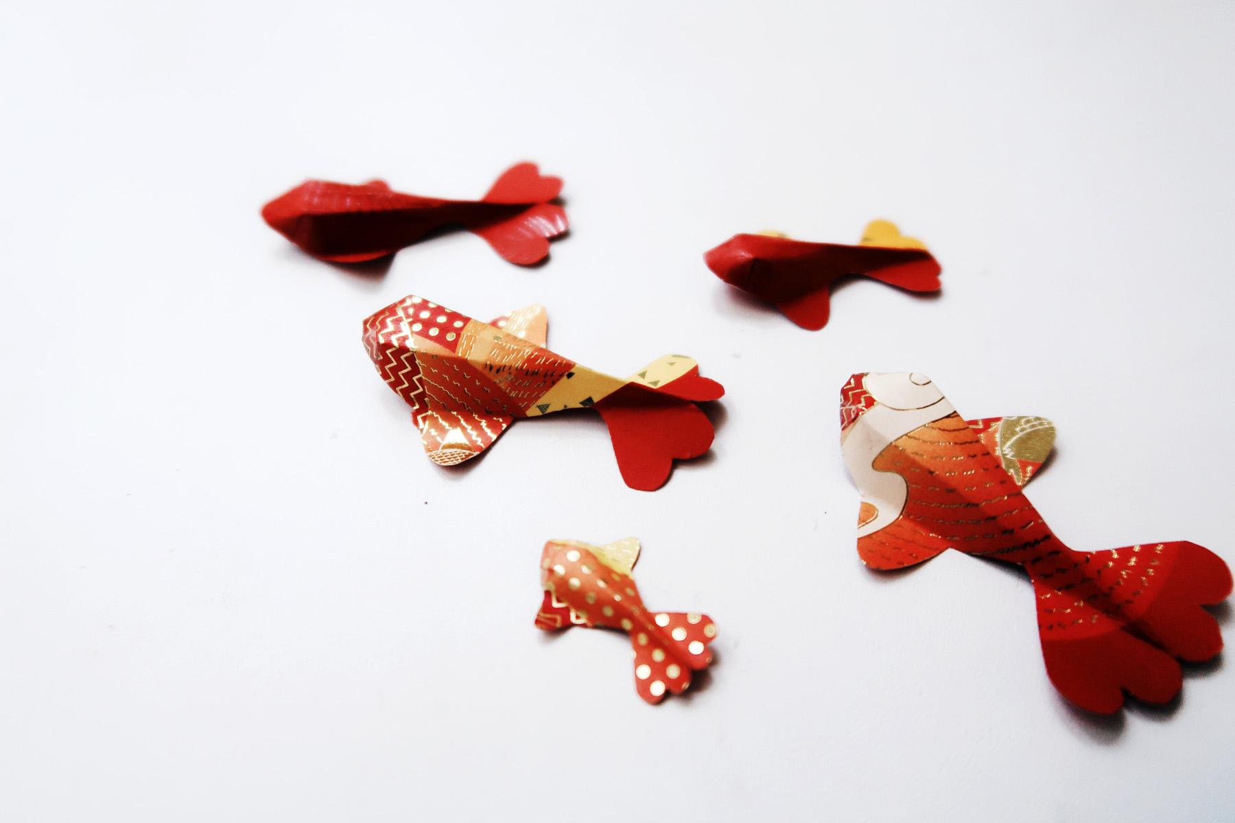 / 灰調 / DIY手作小教學:立體錦鯉紅包袋 - 紙錦鯉魚群