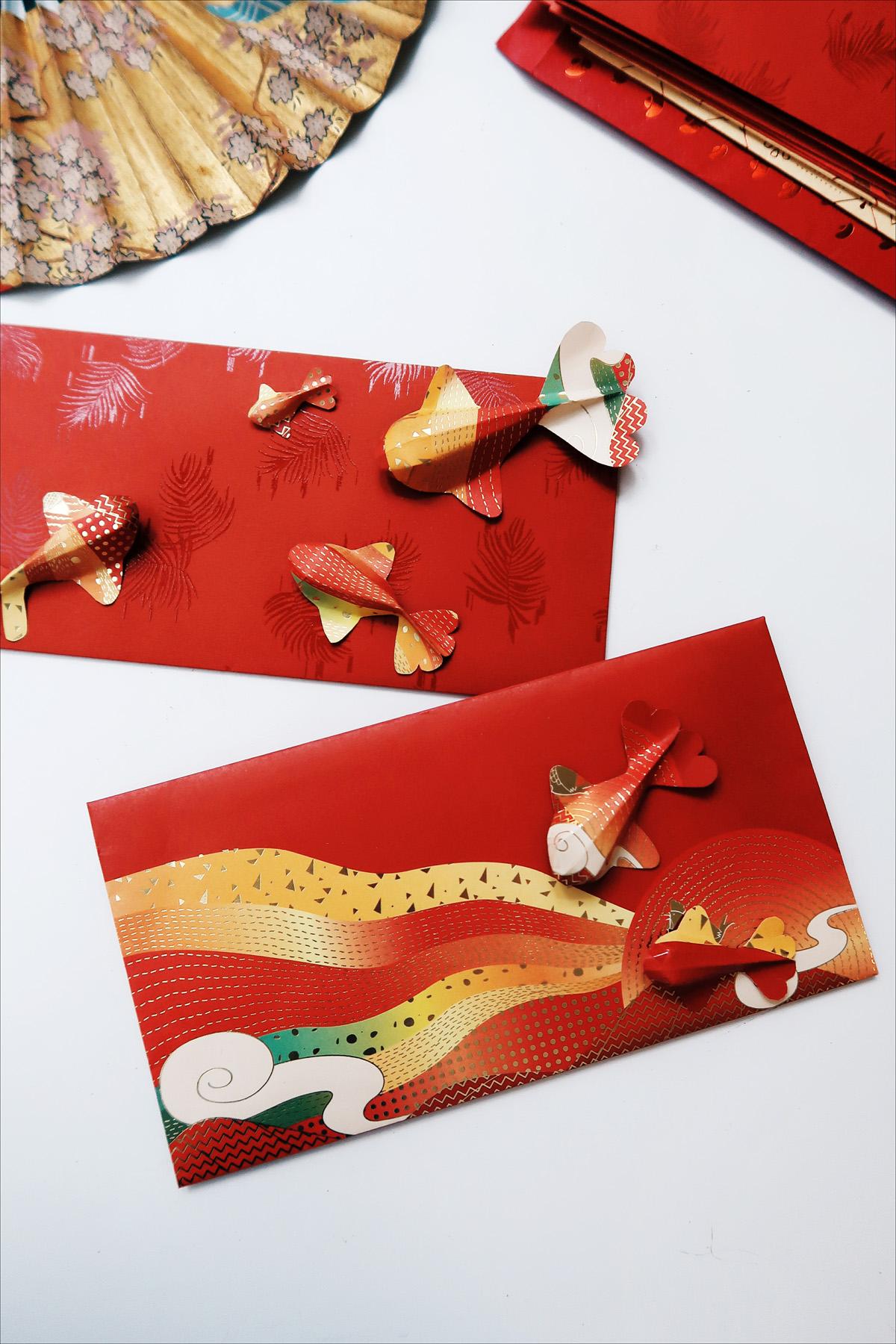 紙錦鯉紅包袋 DIY