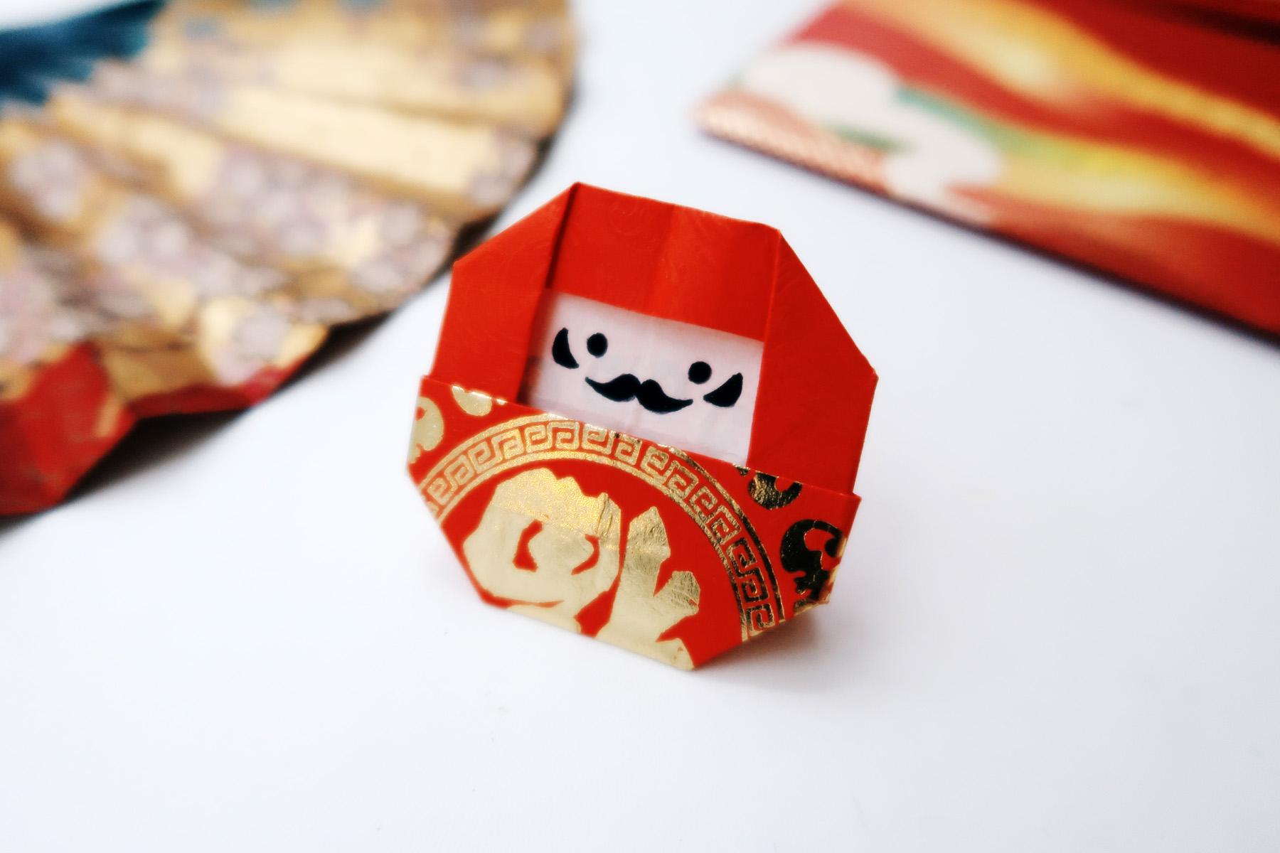 DIY手作教學:紅包袋摺紙達摩福神