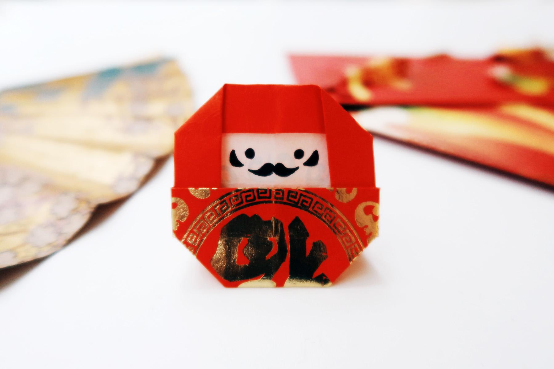 / 灰調 / DIY手作小教學:摺紙達摩福神