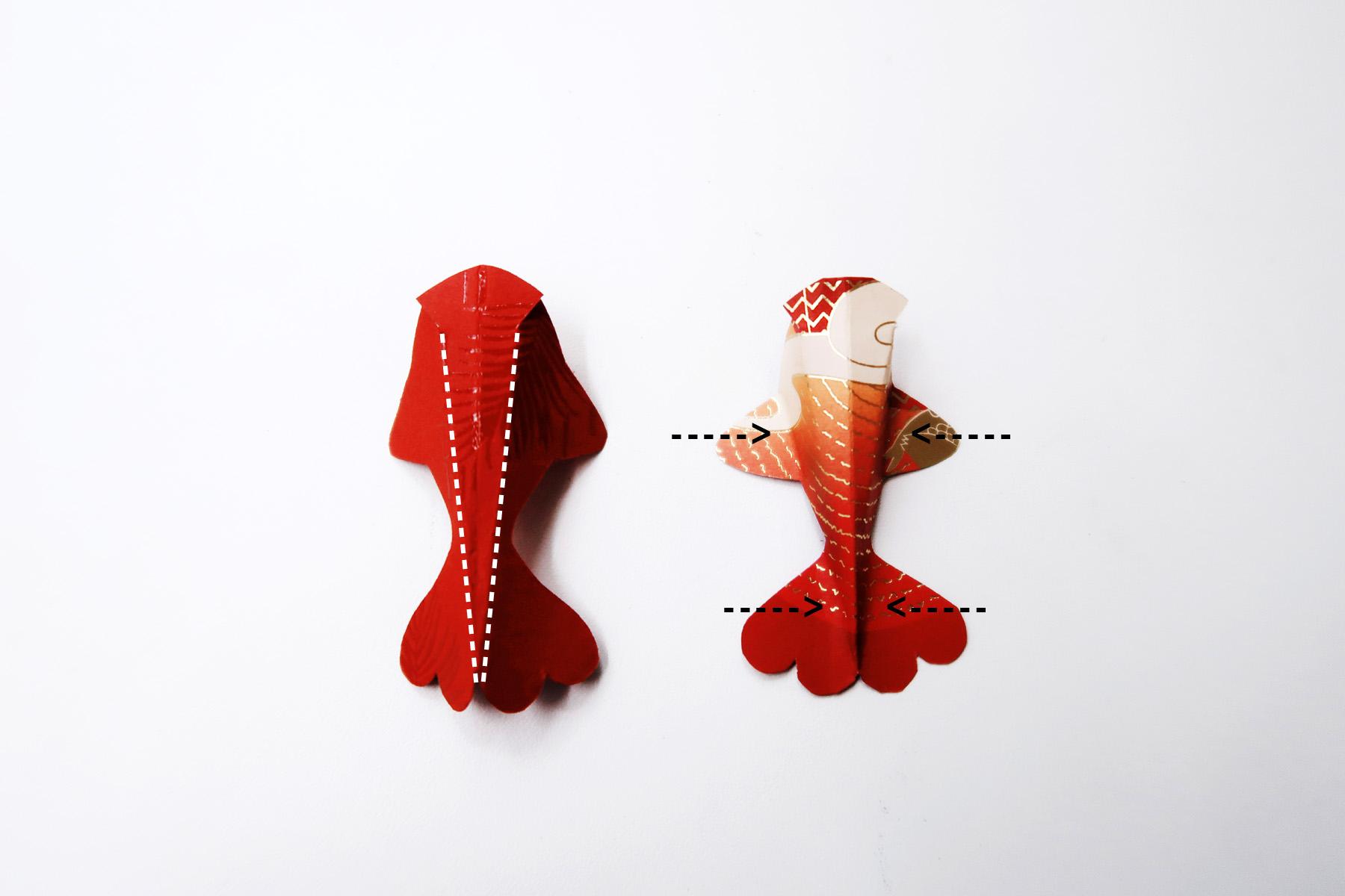 / 灰調 / DIY手作小教學:立體錦鯉紅包袋 - 折線成形
