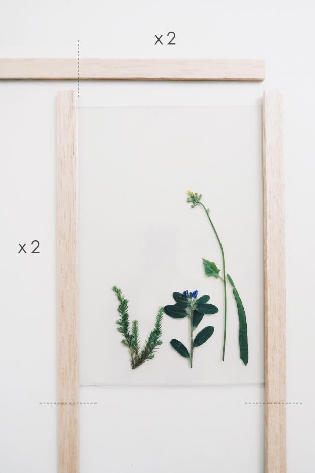 / 灰調 / DIY手作小教學:透明壓花掛畫 Sept 3