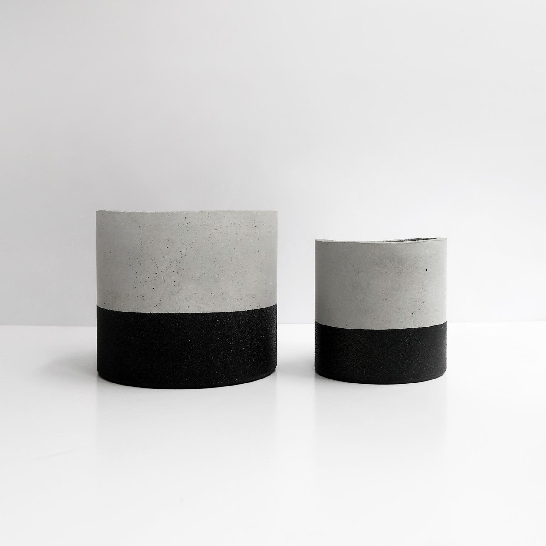 黑隕石深圓水泥設計家飾・盆栽・禮物
