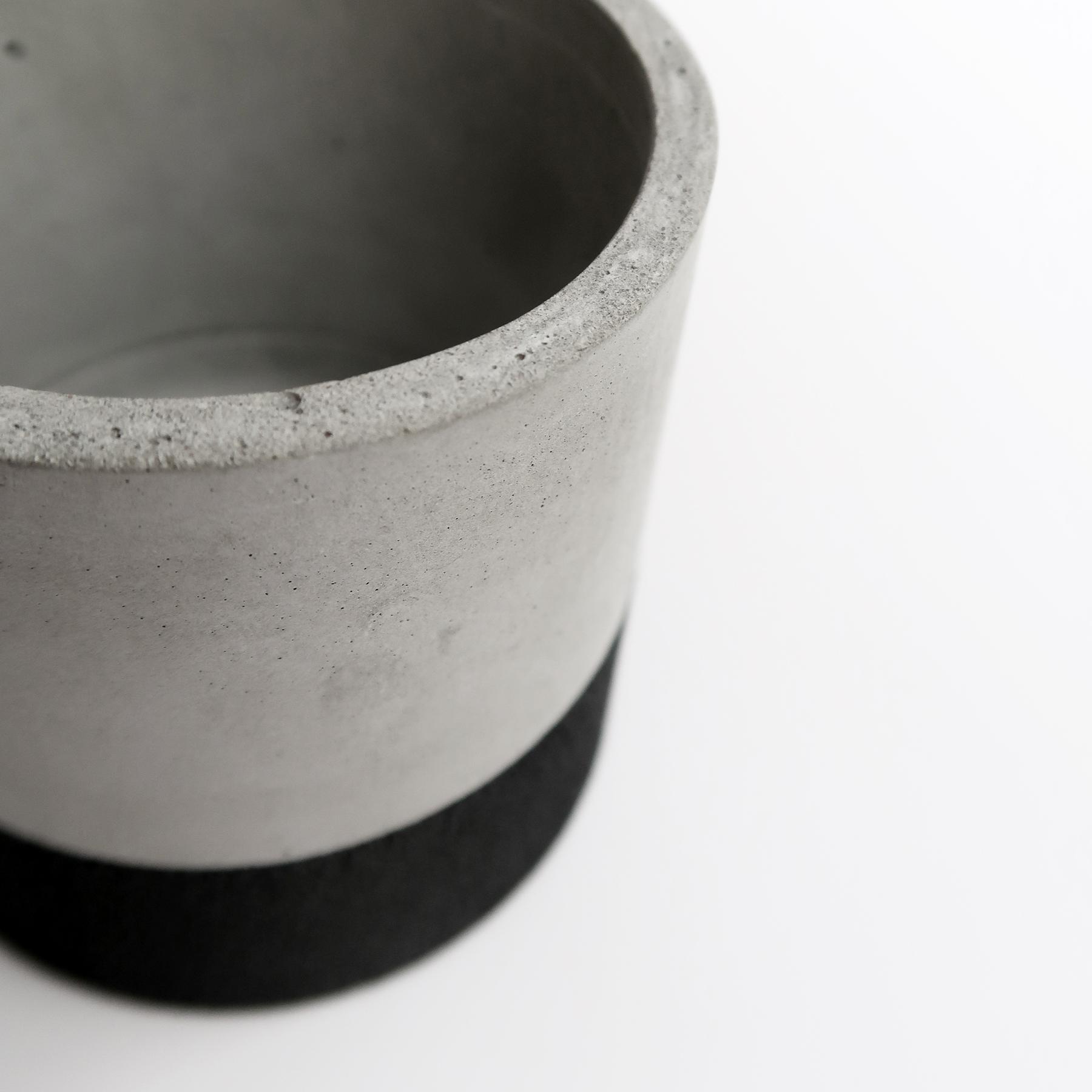 TEKTITE 黑隕石等圓水泥設計家飾・盆器・盆栽