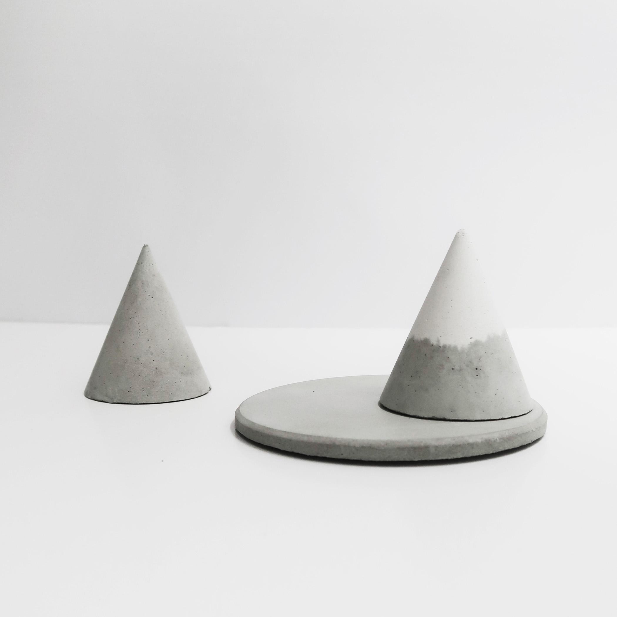SNOWPACK 小山雪錐形水泥戒指座+飾品盤收納組