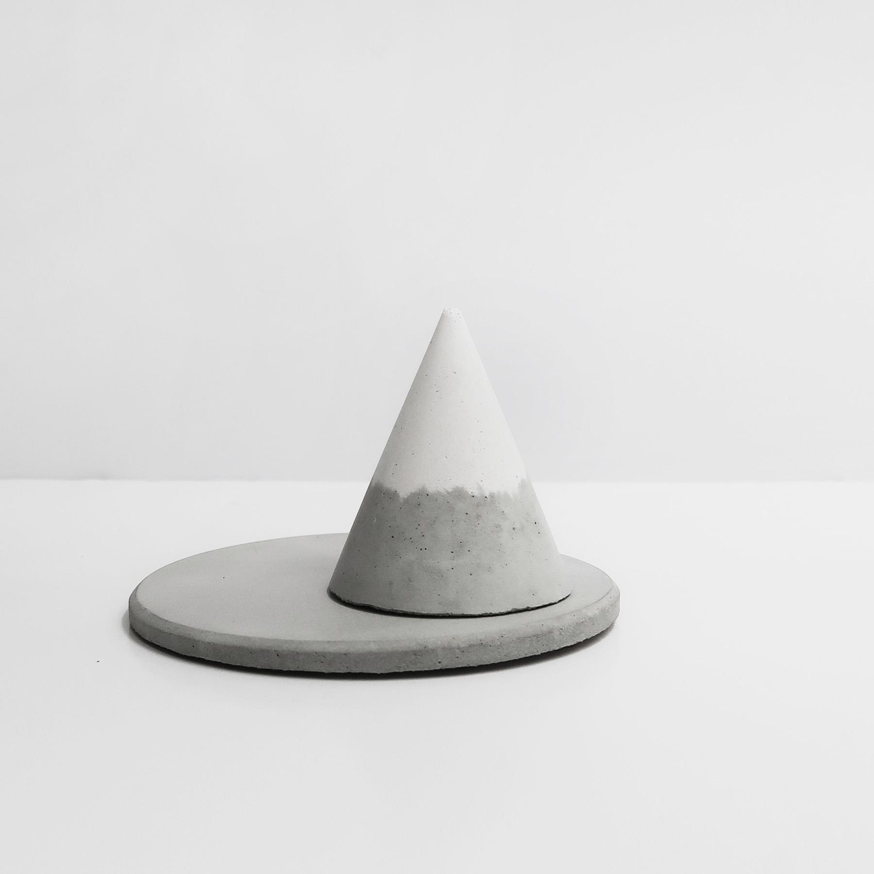 SNOWPACK 小山雪戒指座飾品盤收納2件組 / Concrete ring holders + trinket dish