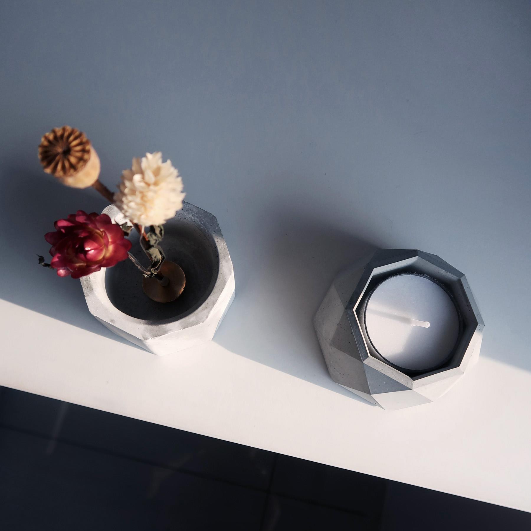 Home Decor 幾何設計水泥家飾・花器・禮物