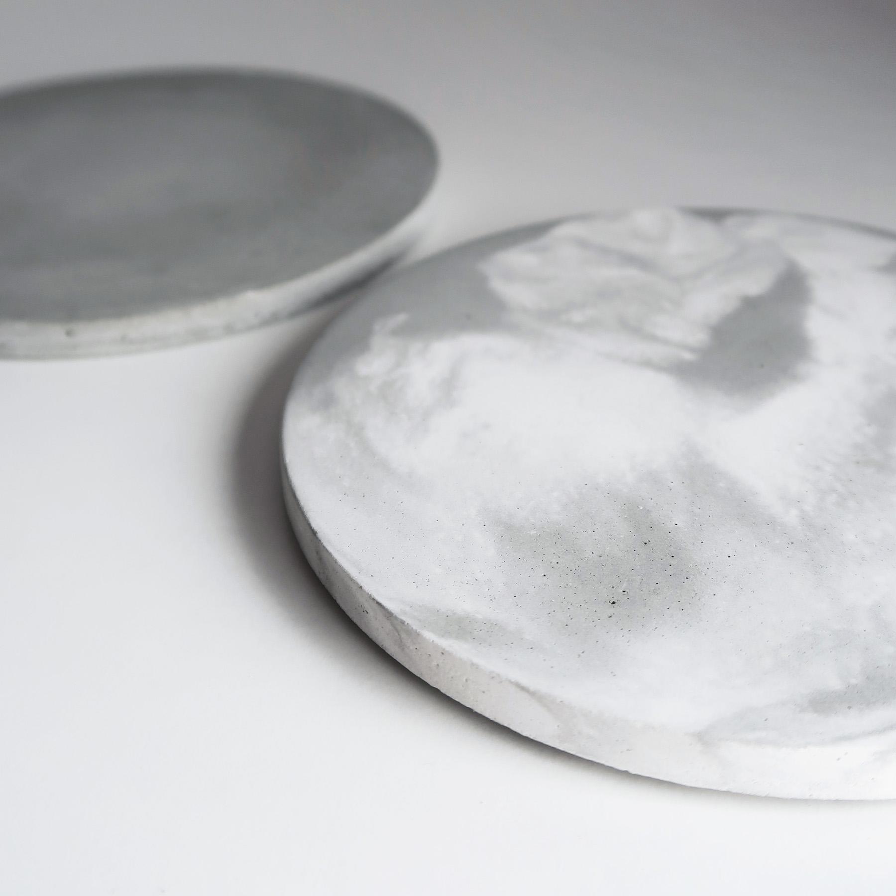 ATMOSPHERE 大氣層灰白紋理水泥吸水杯墊・飾品盤・擺飾