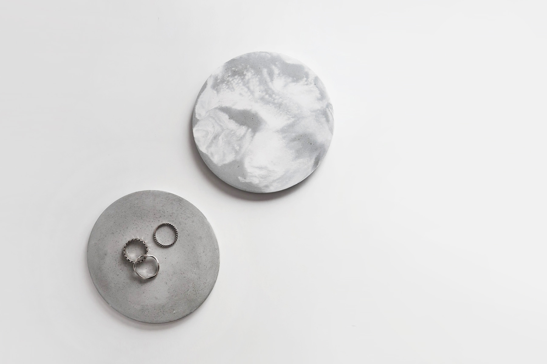 ATMOSPHERE 大氣層灰白紋理水泥吸水杯墊・飾品盤