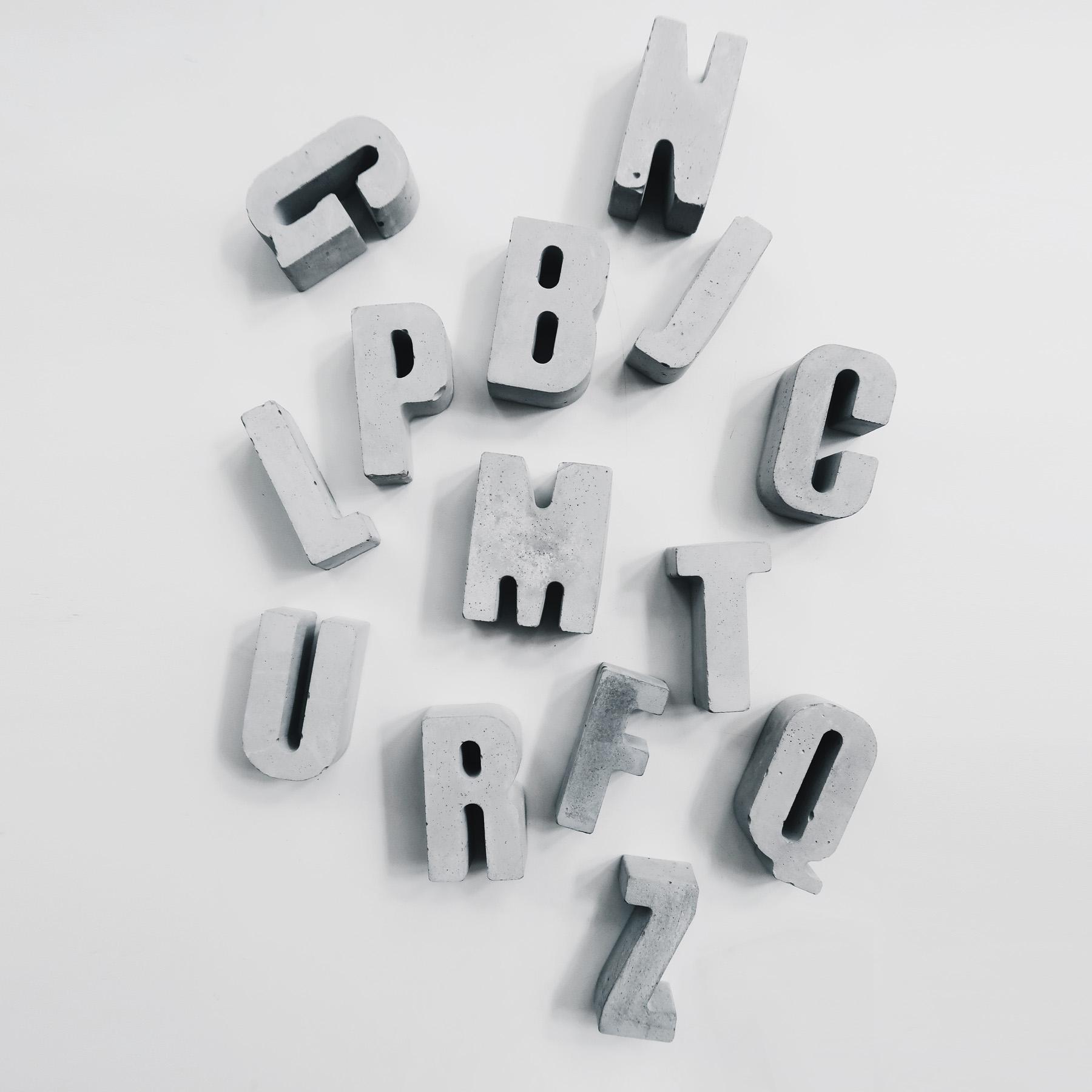 SPELLING 字句話語水泥字母擺飾