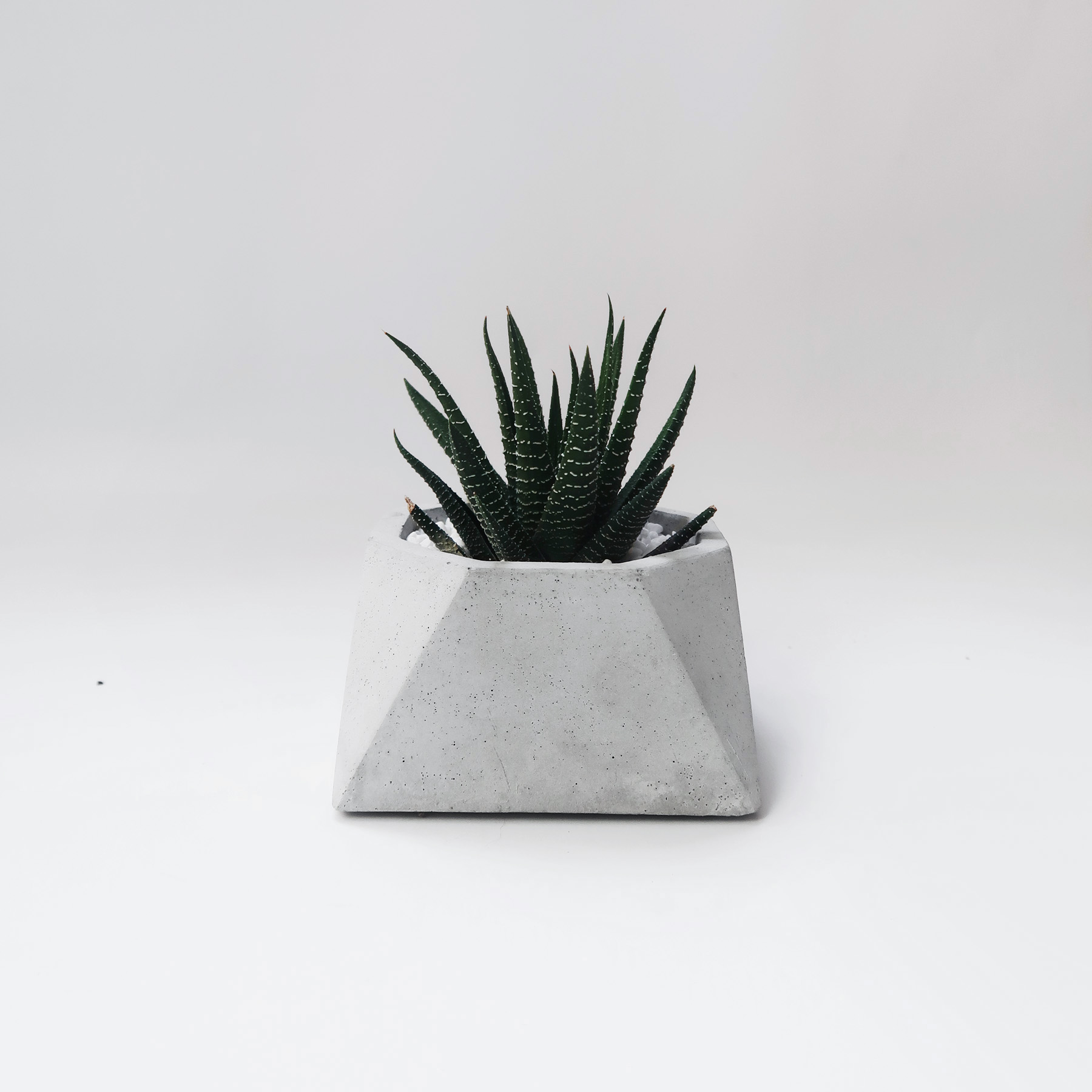 Concrete Design 視角八邊幾何水泥盆器・盆栽・設計禮物