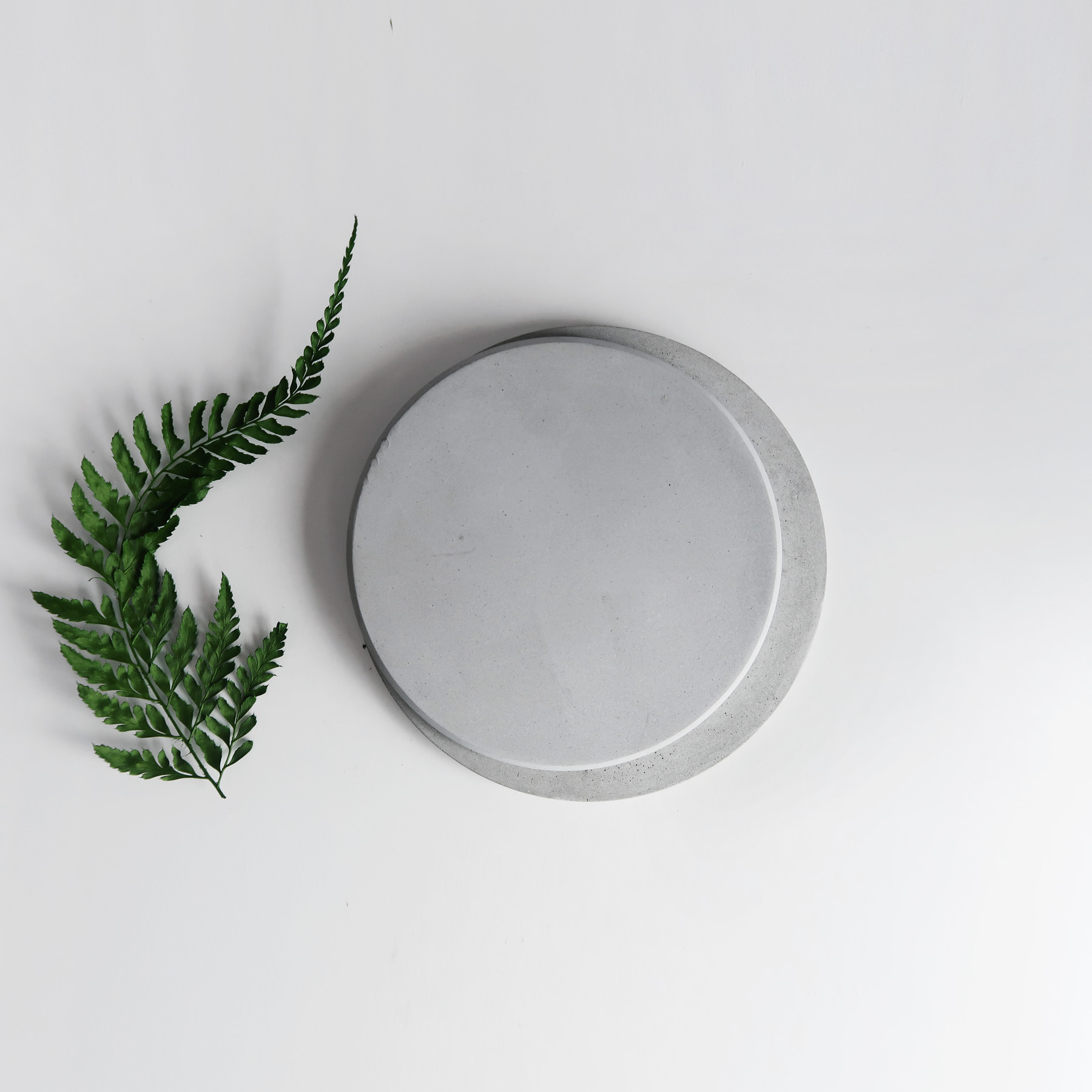 PURE MOON 月亮灰質地水泥吸水杯墊・飾品盤 / Concrete absorbent coaster, Jewelry dish