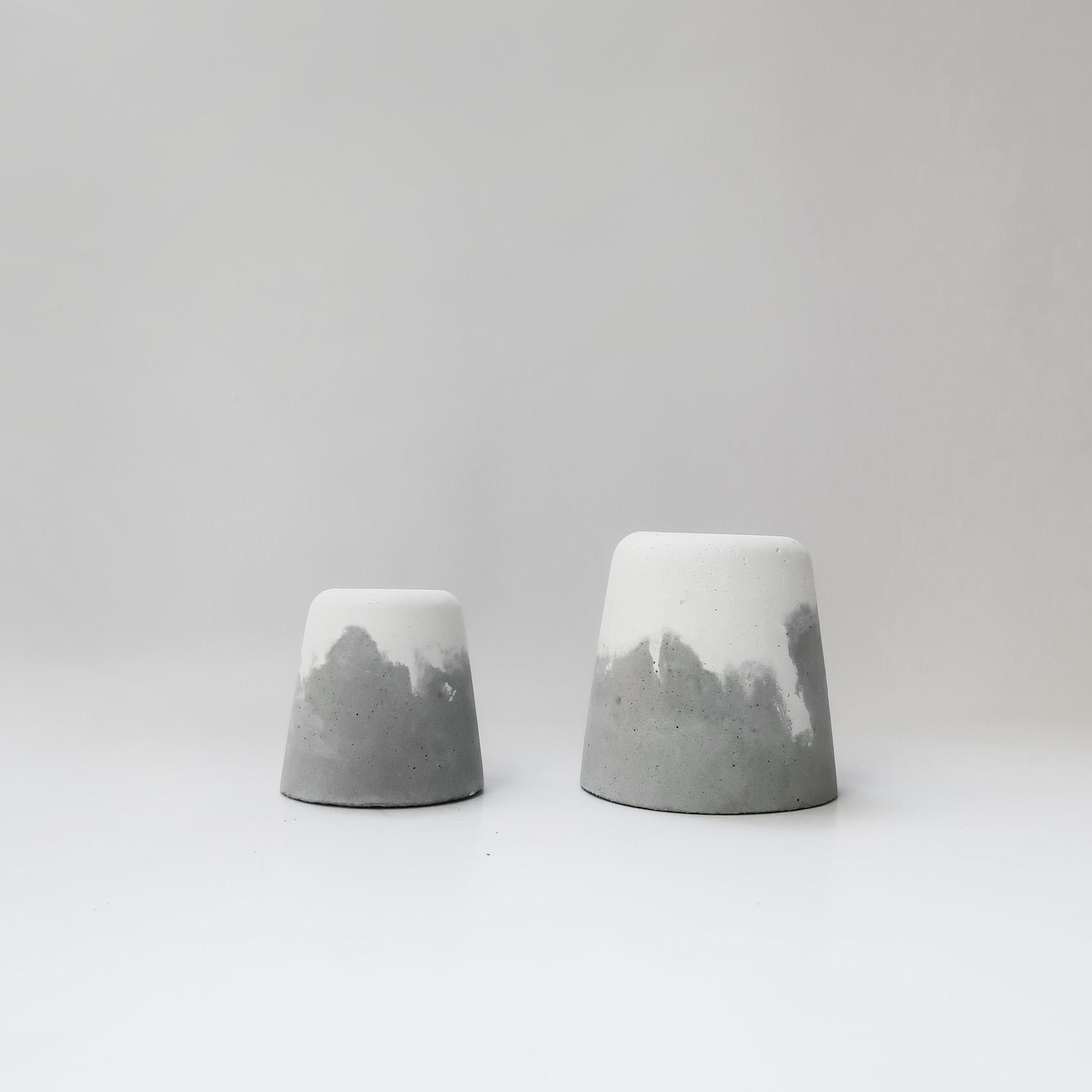 SNOW VOLCAN 雪火山水泥設計盆器・花器・置物盆