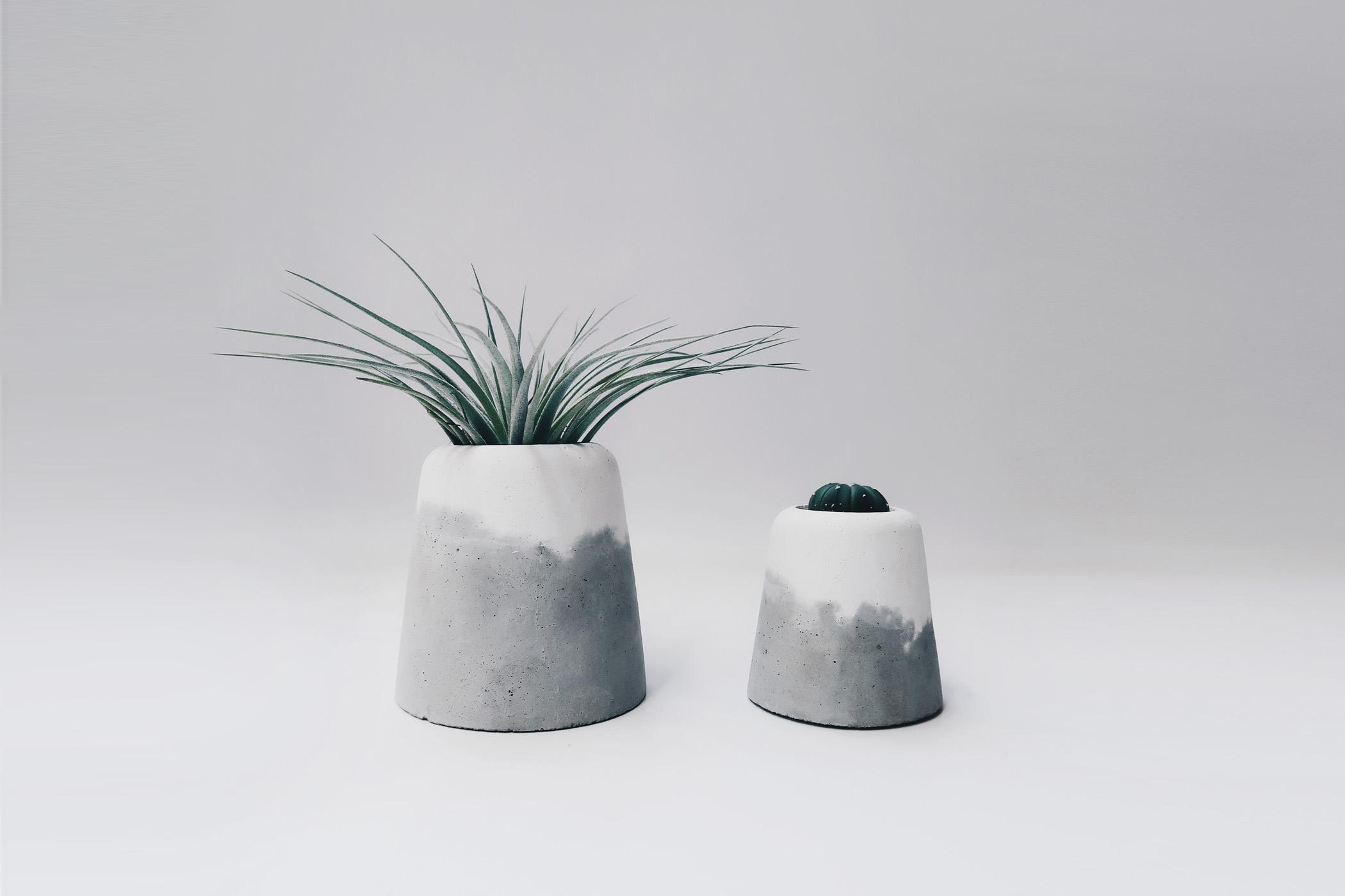 SNOW VOLCANO 大雪火山雙色水泥盆器