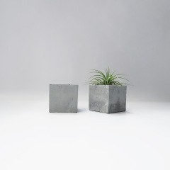 MINI CUBE 小方磚水泥蠟燭・飾品收納・空氣鳳梨座 / Concrete tealight candle