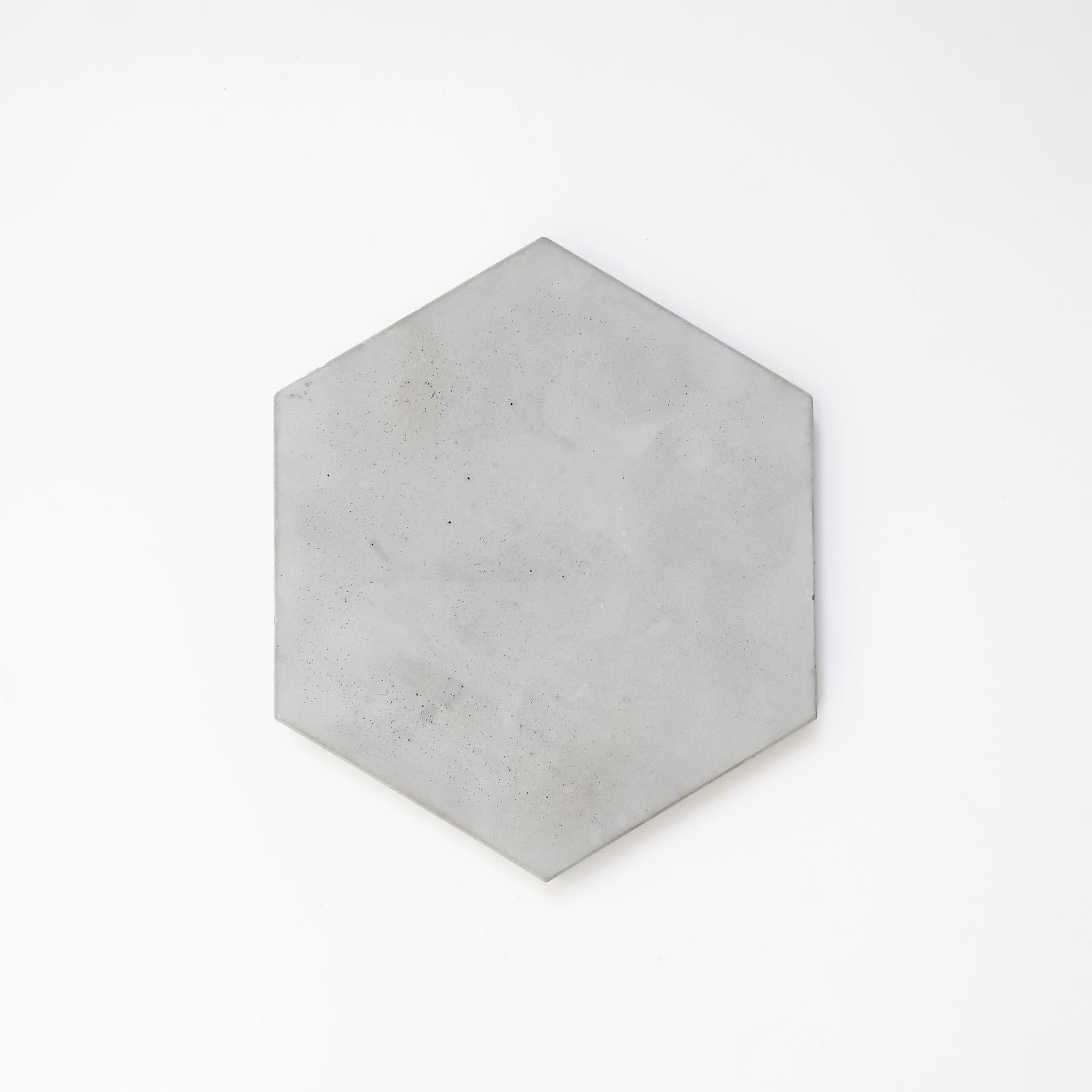 六角水泥飾盤玻璃鐘罩・居家擺飾・飾品陳列