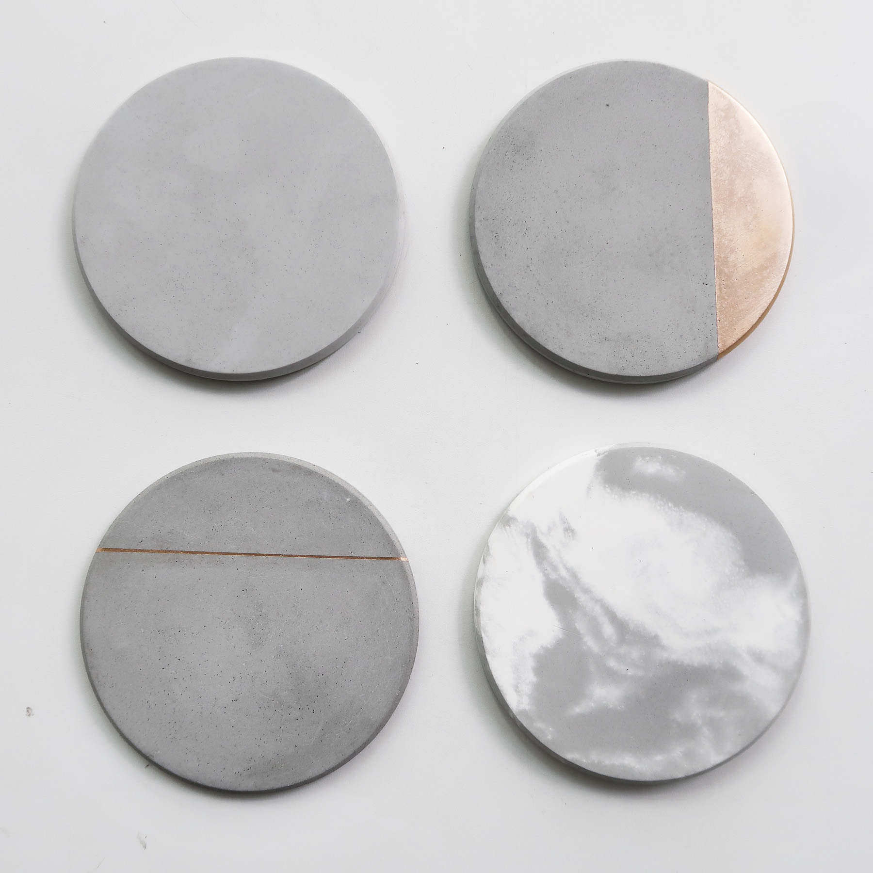 Concrete Design 太陽系倒角設計水泥吸水圓墊・杯墊・飾品盤