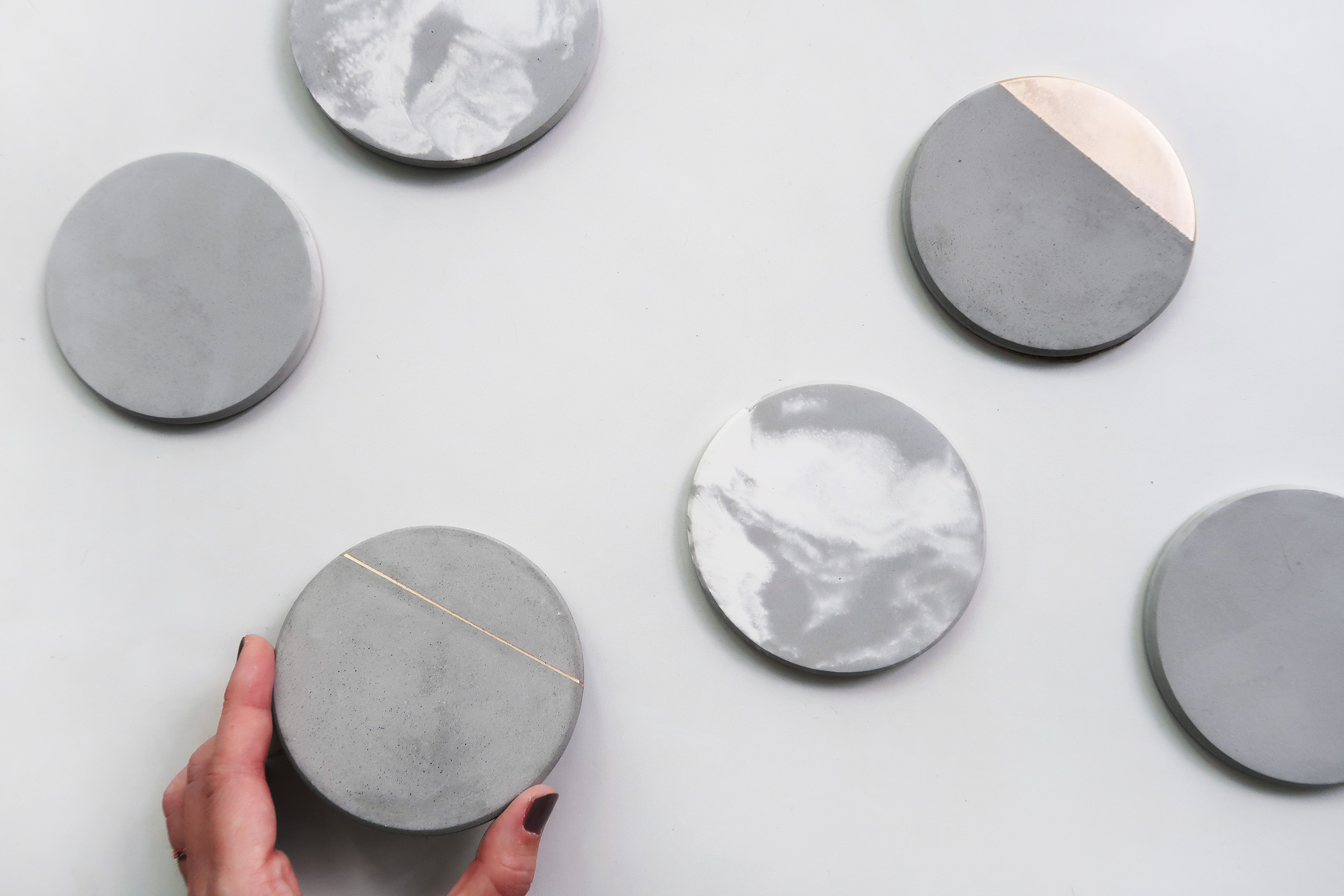 SOLAR SYSTEM 太陽系水泥吸水圓墊・杯墊・飾品盤