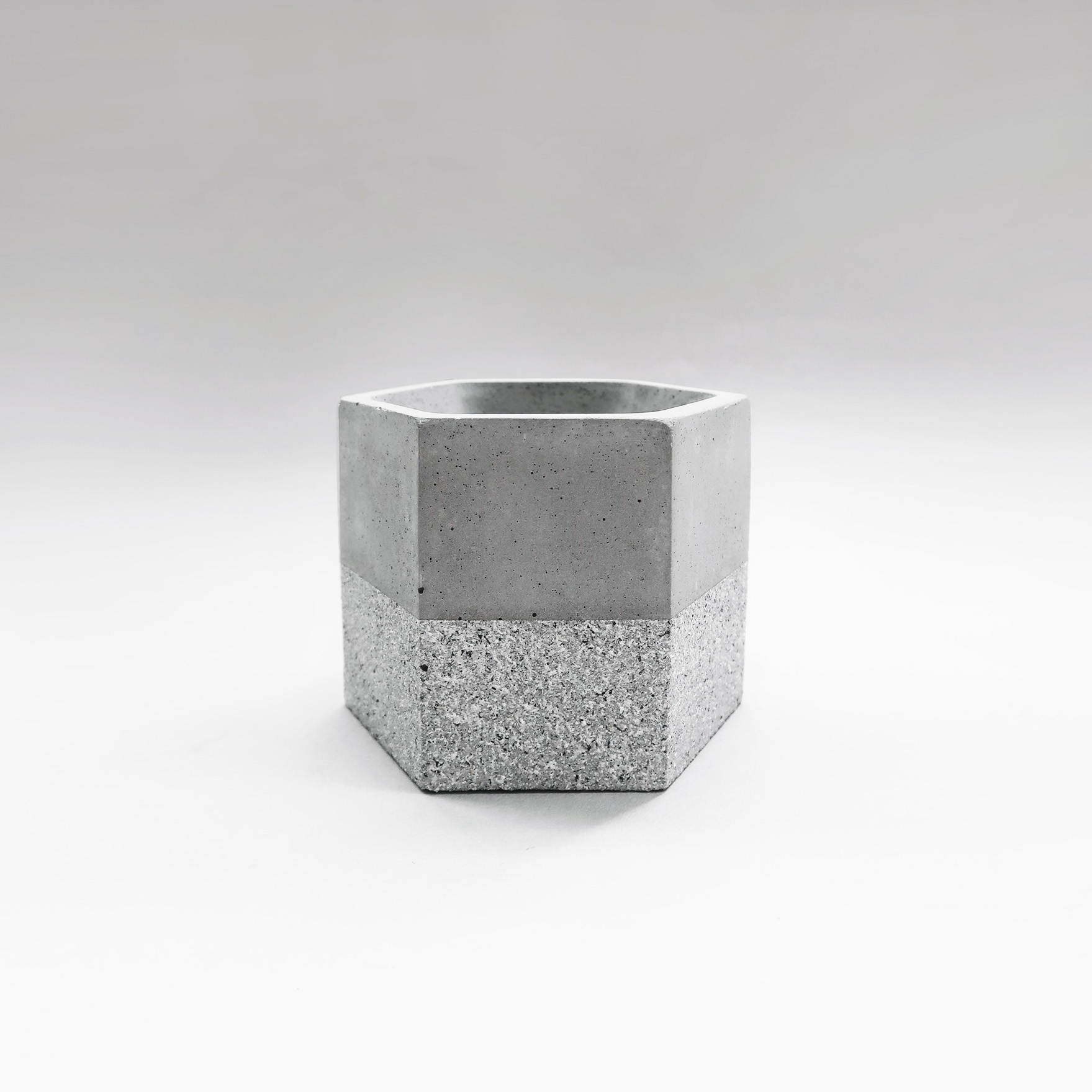 GRANITE 花崗岩六角水泥盆器 / hexagonal concrete pot