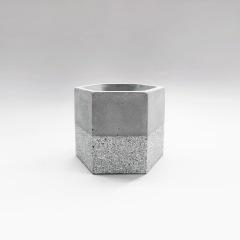 GRANITE 花崗岩六角水泥盆器 / hexagonal concrete pot