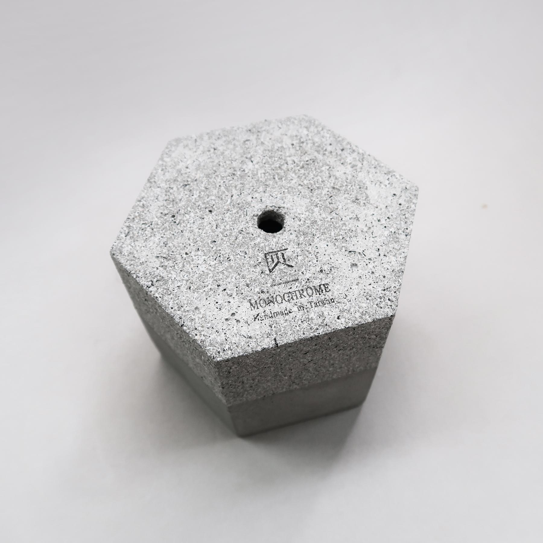 GRANITE 花崗岩六角水泥設計家飾・盆器・盆栽