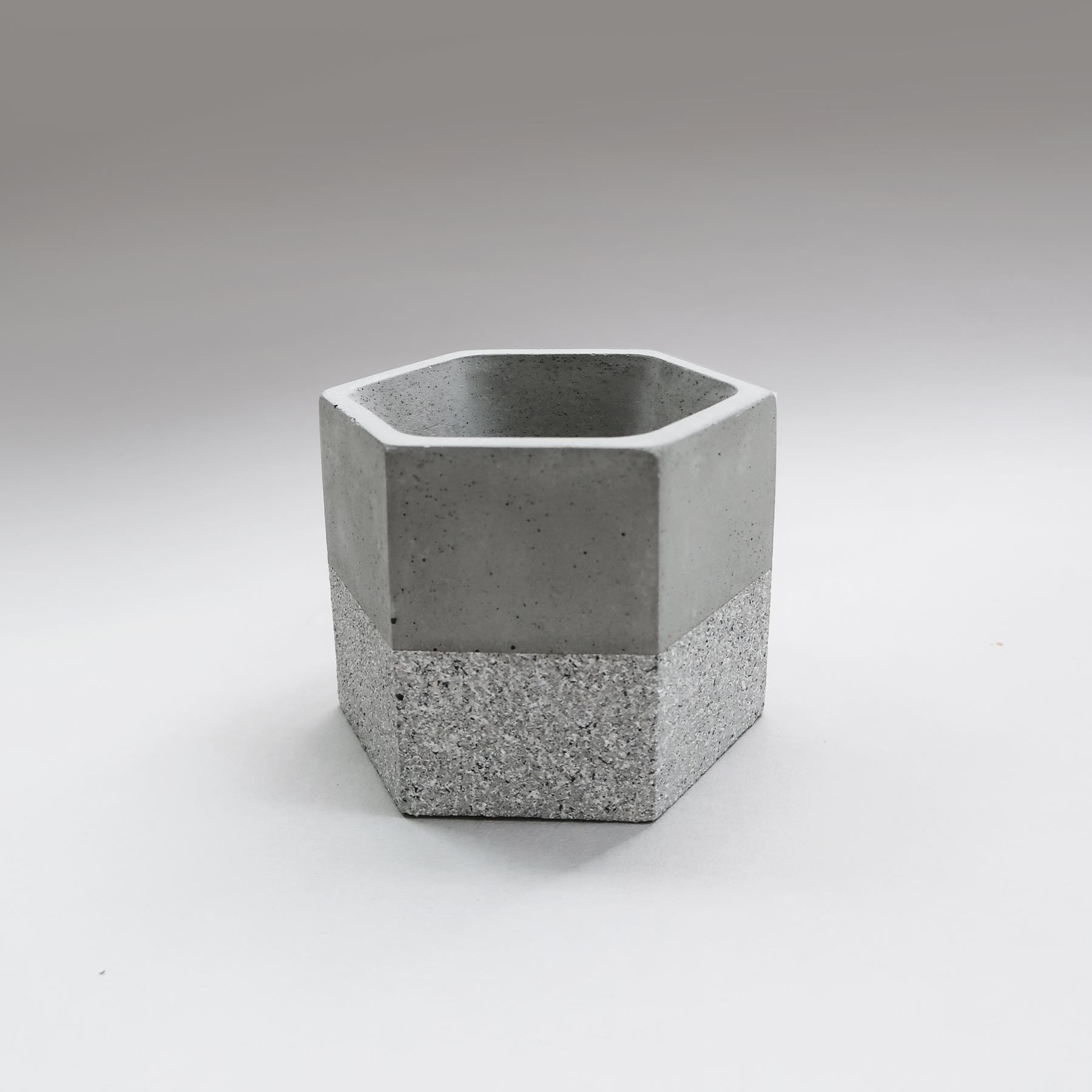 GRANITE 花崗岩六角水泥盆器