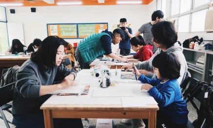 / 水泥創作課程 Day1 / 方磚水泥燈、花磚杯墊、多肉植栽模具製作
