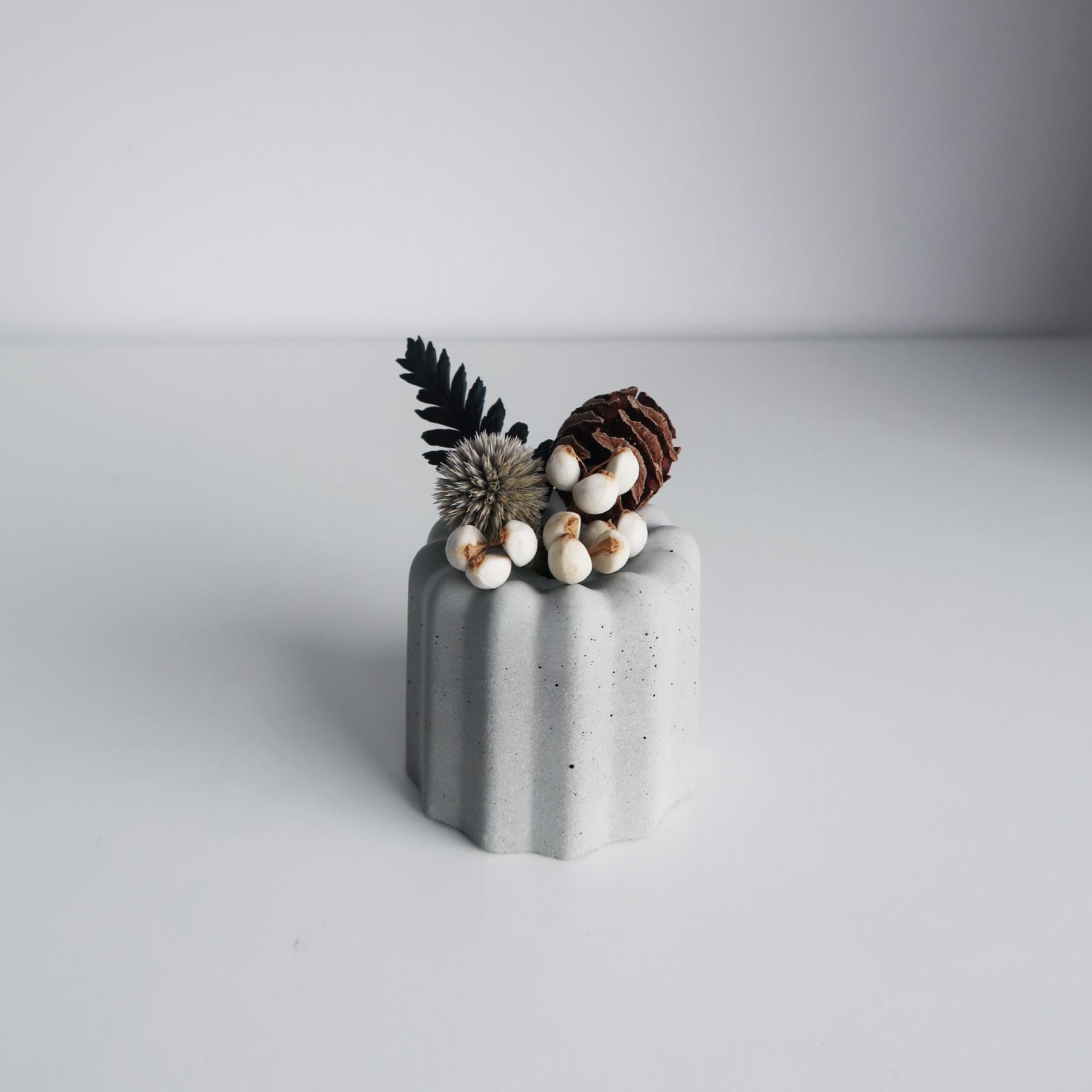 / CANELÉ 法式可麗露乾燥花水泥擴香石禮盒・松果森林 / Concrete aroma ston diffuser