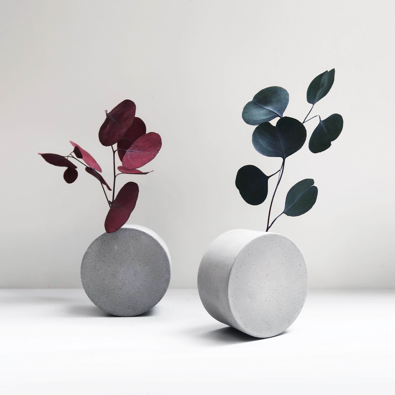 FULL MOON 望月圓形轉轉水泥花器・植物生活・設計禮物