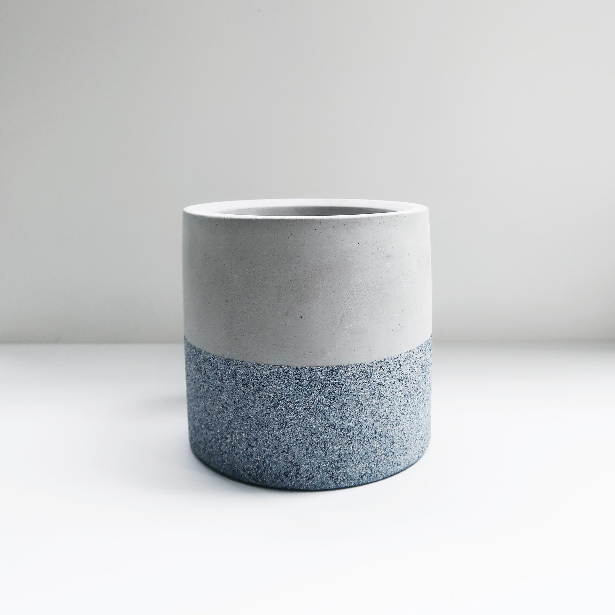 Concrete Design 藍砂岩深圓水泥盆器・花盆・花器