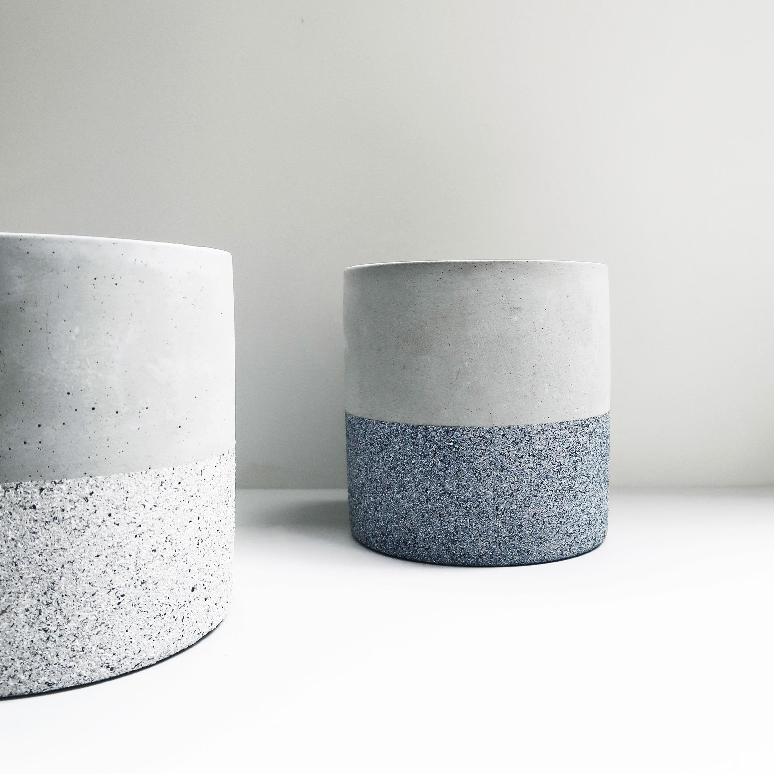 BLUESTAND 藍砂岩深圓水泥設計家飾・盆器・盆栽
