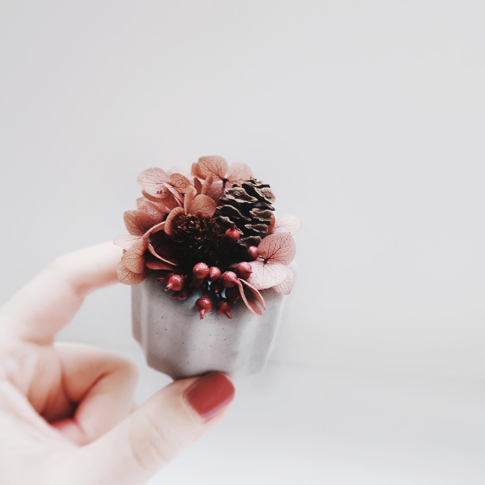 CANELÉ 法式可麗露・不凋花水泥甜點精油擴香石