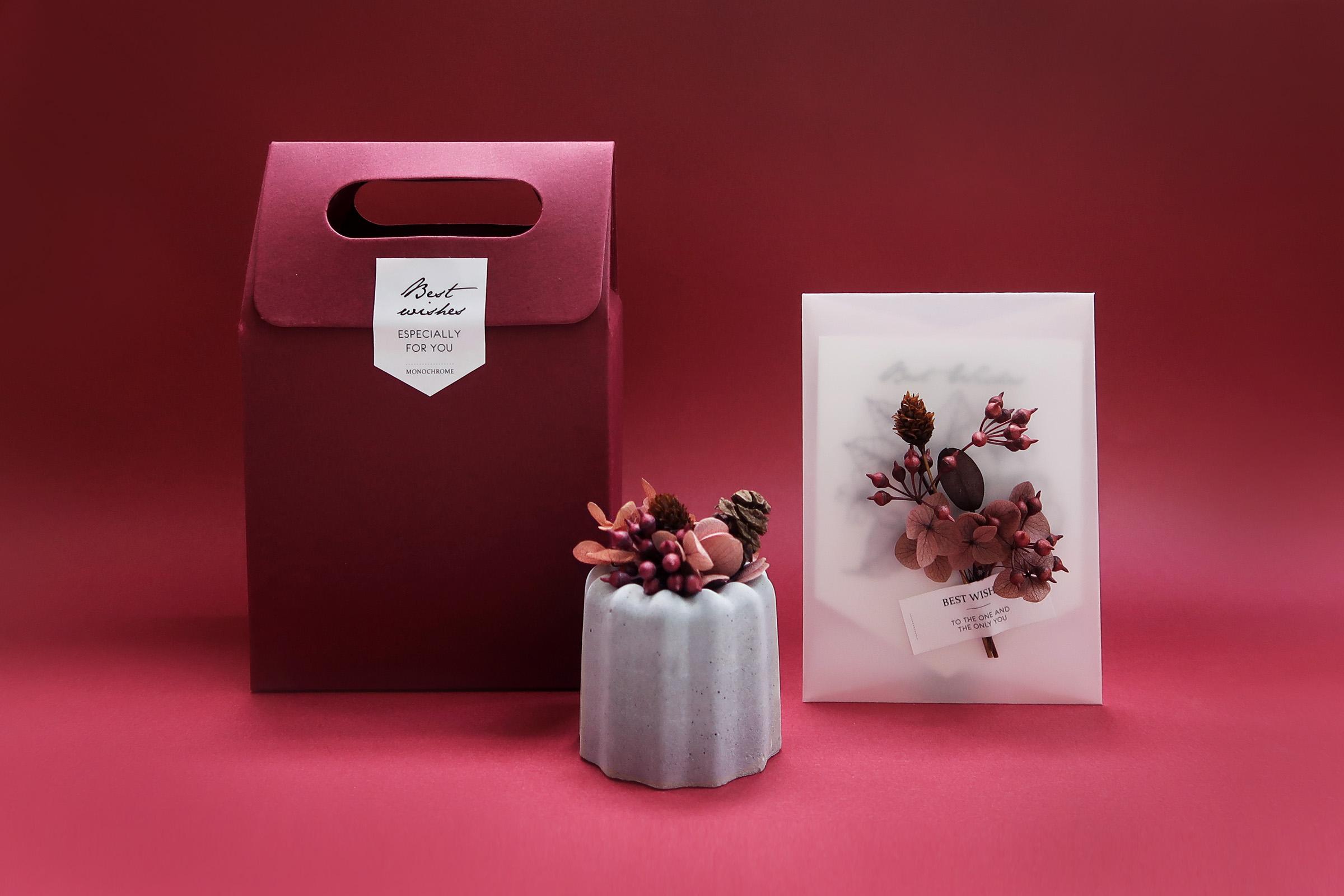 CANELÉ 法式可麗露 / 法式熱吻・乾燥不凋花水泥甜點擴香石禮盒