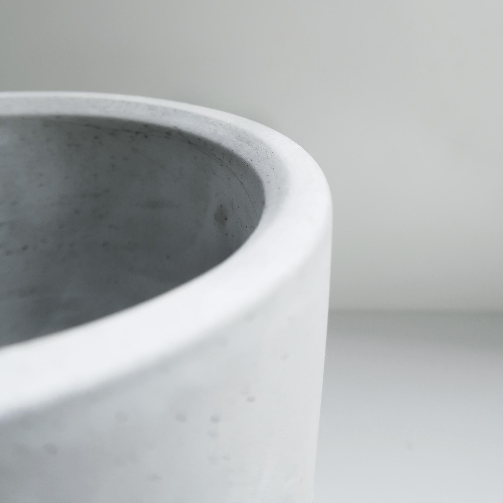 Concrete Design 藍砂岩深圓水泥盆器・盆栽