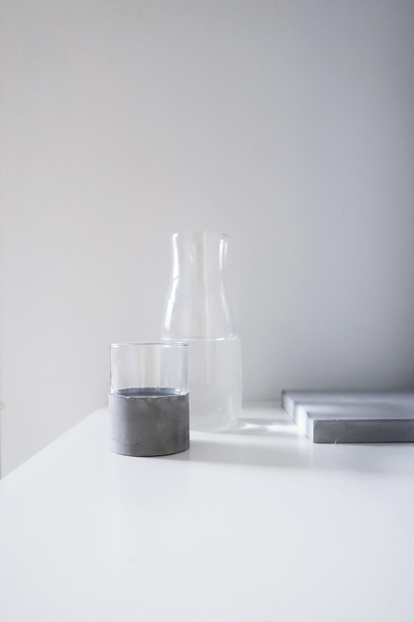 灰調|DIY手作教學:極簡粗獷・水泥玻璃杯