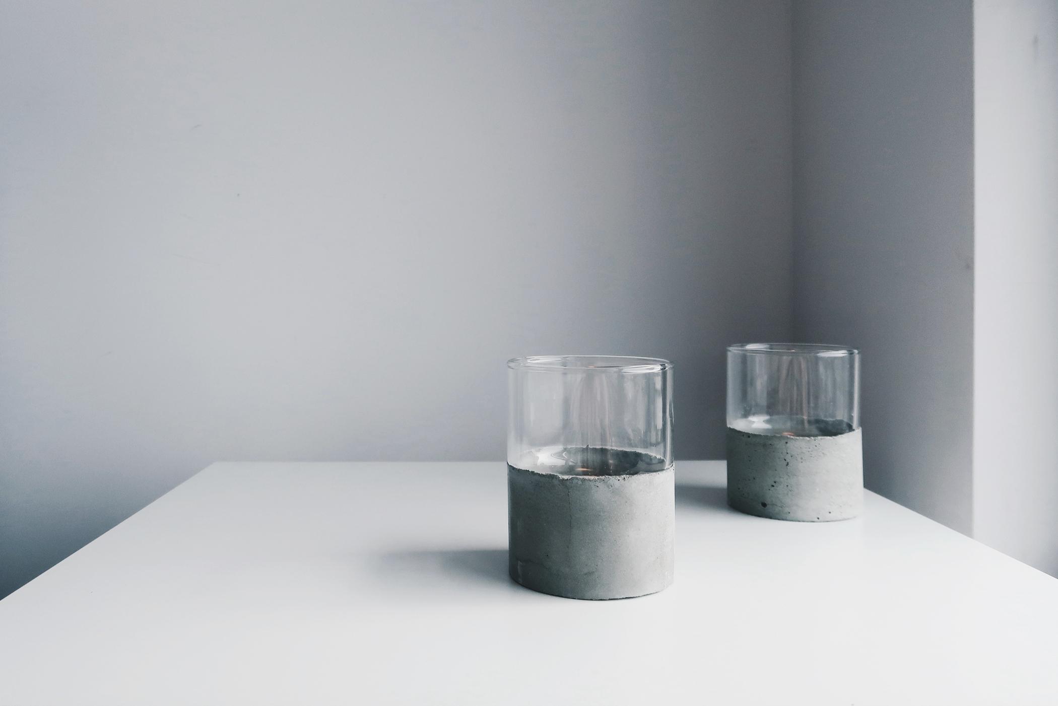 灰調|DIY手作教學:極簡粗獷・水泥玻璃杯 Sept 5