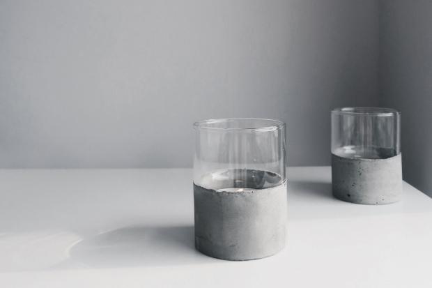 DIY 極簡粗獷・水泥玻璃杯