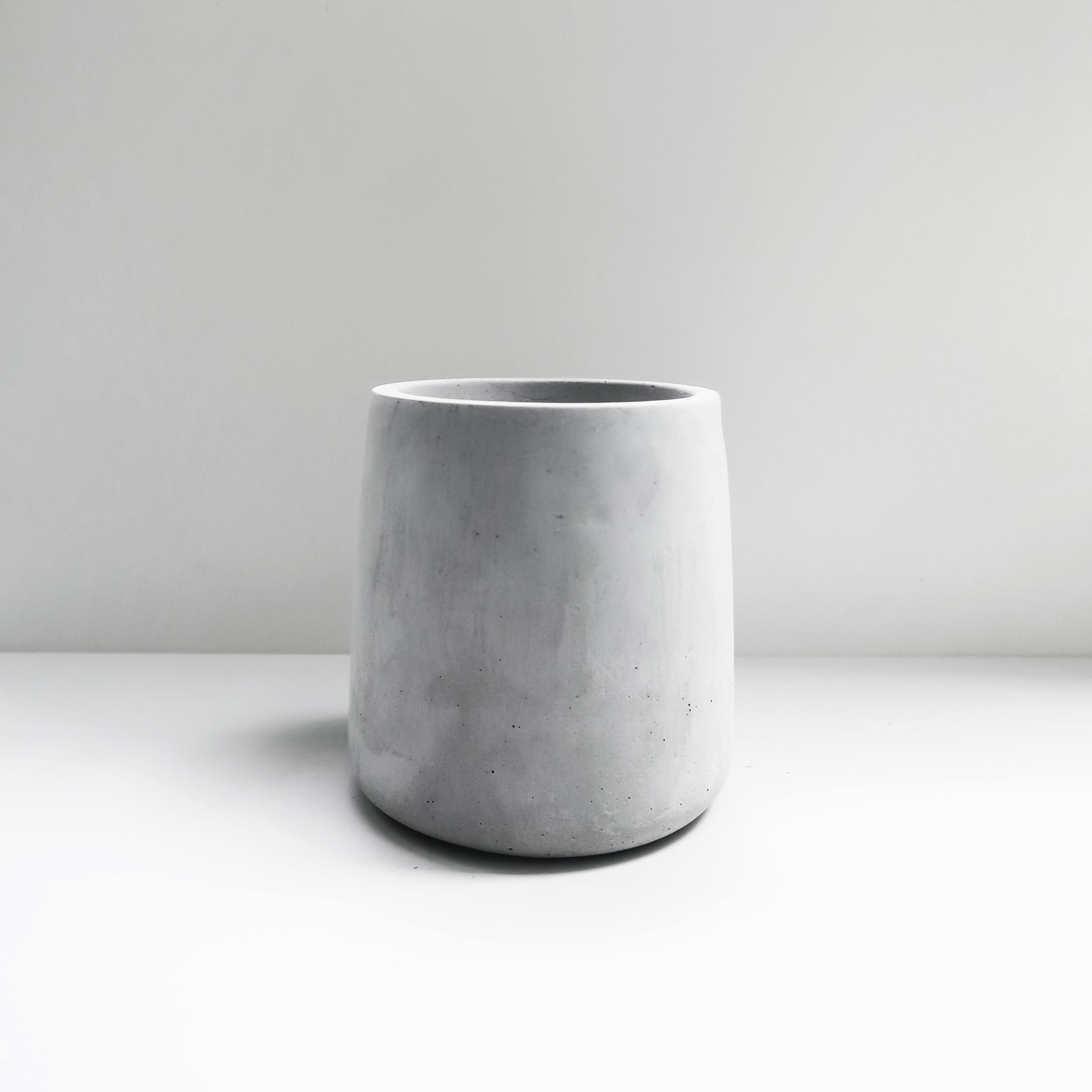 PURE 錐圓水泥盆器・花盆・花器